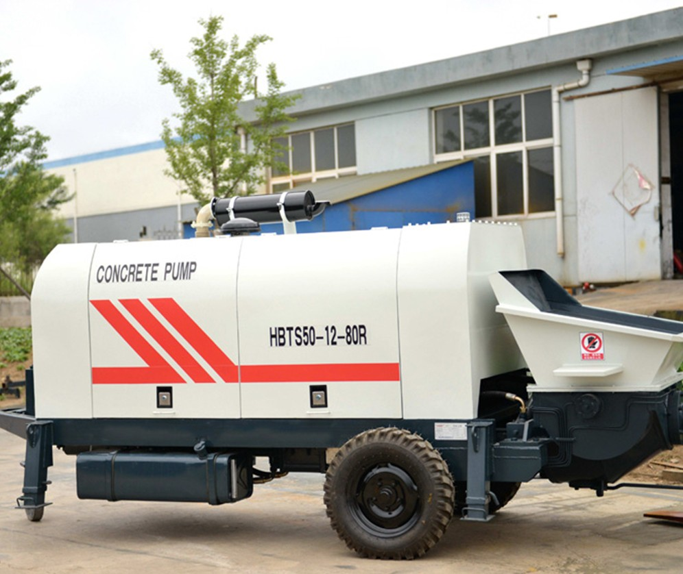Diesel Concrete Trailer Pump