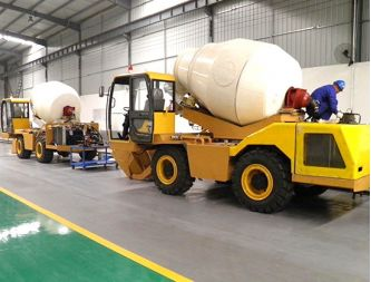 Self Loading Driving type Concrete Mixer Maintain