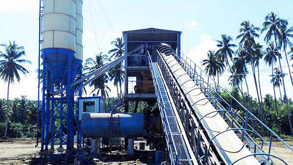 UNIQUE HZS60 Concrete Batching Plant in Philipines