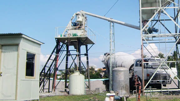 UNIQUE HZS25 Concrete Batching Plant in Philipines