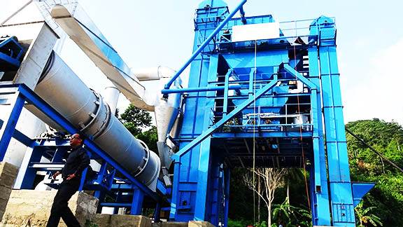 UNIQUE LB1500 Asphalt Mixing Plant in Indonesia