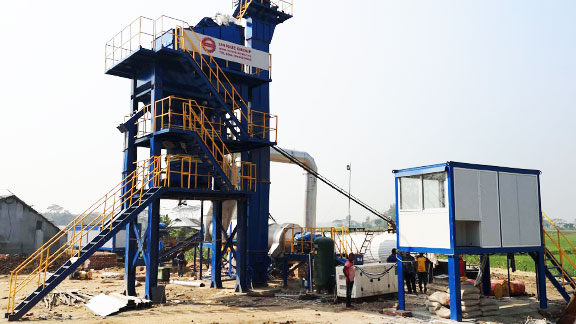 UNIQUE LB1000 Asphalt Mixing Plant in Bangladesh
