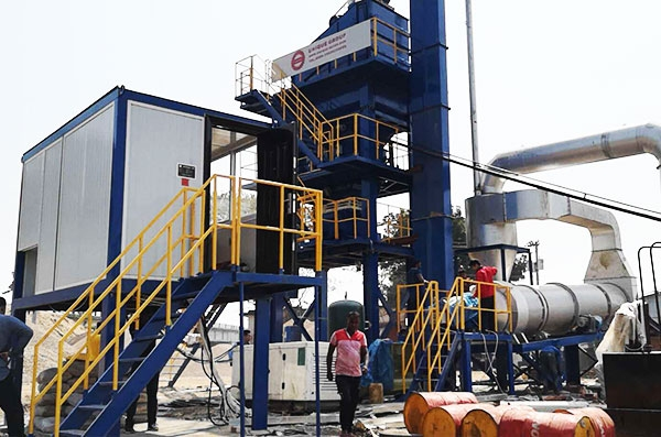 UNIQUE LB800 Asphalt Mixing Plant installed in Bangladesh