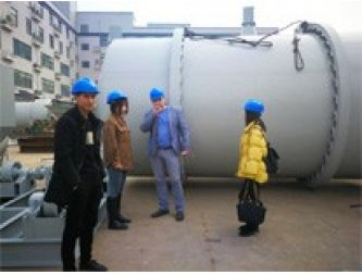 Russian clients come to our factory to buy dry mortar mixing plant