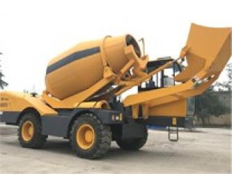 Self Loading Concrete Mixing Vehicle