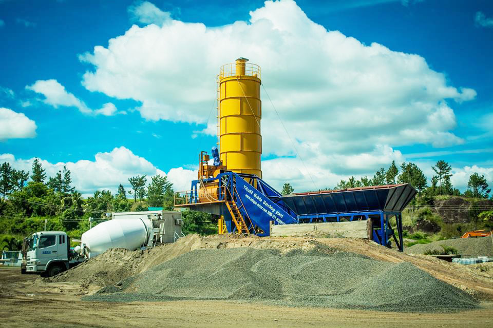 YHZS60 Mobile Batching Plant in Fiji