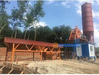 HZS35 Concrete Mixing Plant with JS750 Concrete Mixer