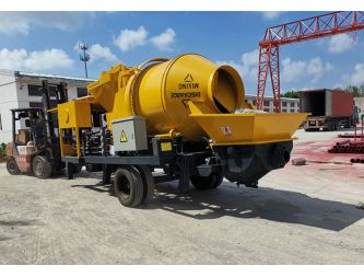 Delivery of one set concrete mixer pump to Maldives