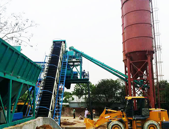 HZS90 Concrete Batching Plant Working in Bangladesh